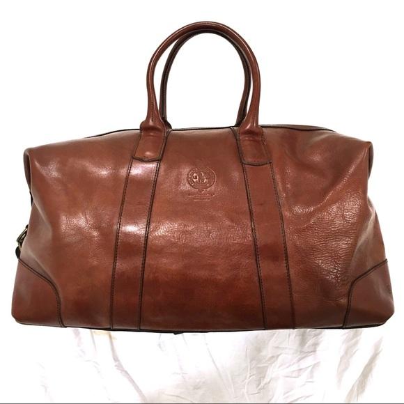 6baa80e2fea0 NWT Polo Ralph Lauren Leather Luggage Duffel Bag